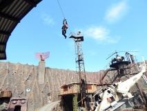 Bei der Stuntshow.