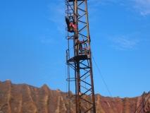 Action auf zwölf Meter Höhe.