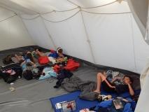 Chillen im Zelt