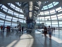 Oben in der Kuppel des Reichstages.