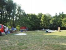 Der Zeltplatz leert sich.